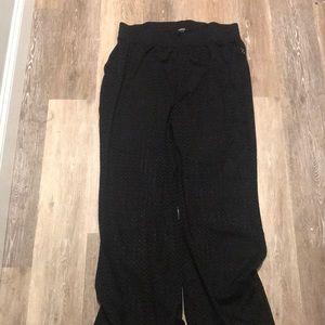 Black sheer bathing suit cover pants from torrid